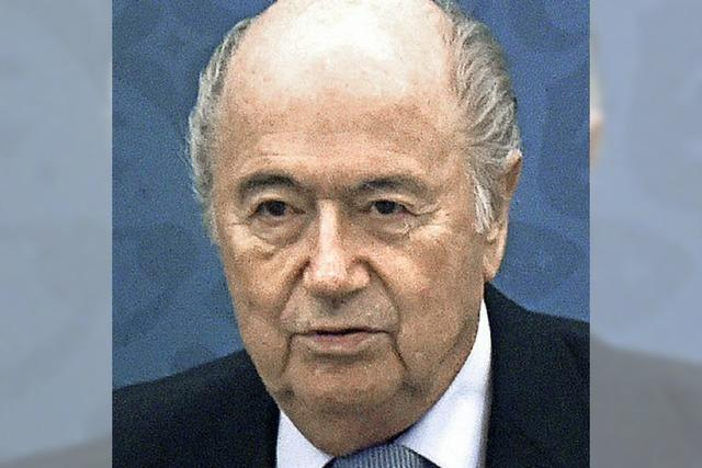 Blatter keilt zurück