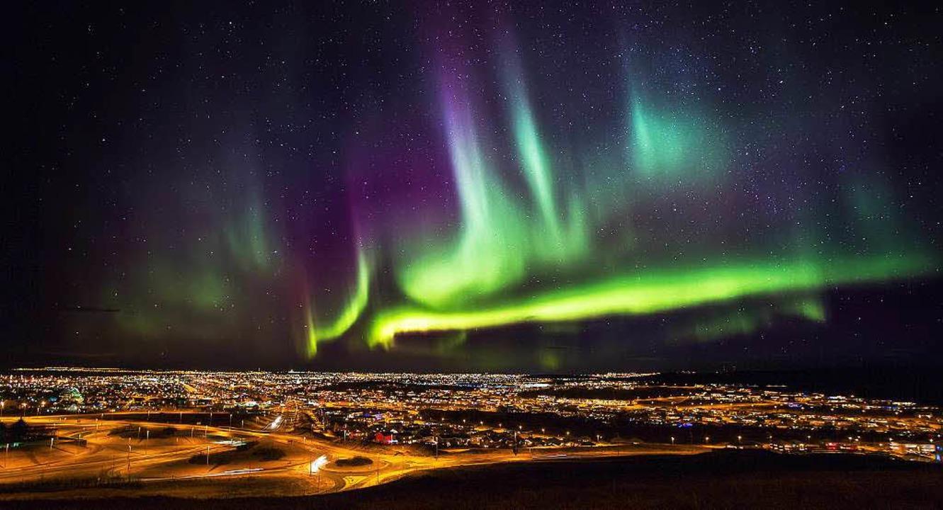 Polarlichter am Himmel     Foto: dpa
