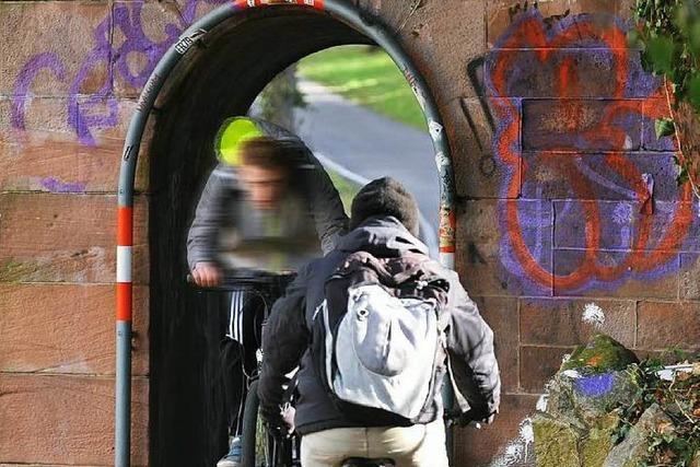 Stadt schafft mehr Platz für Radler und Fußgänger an der Dreisam