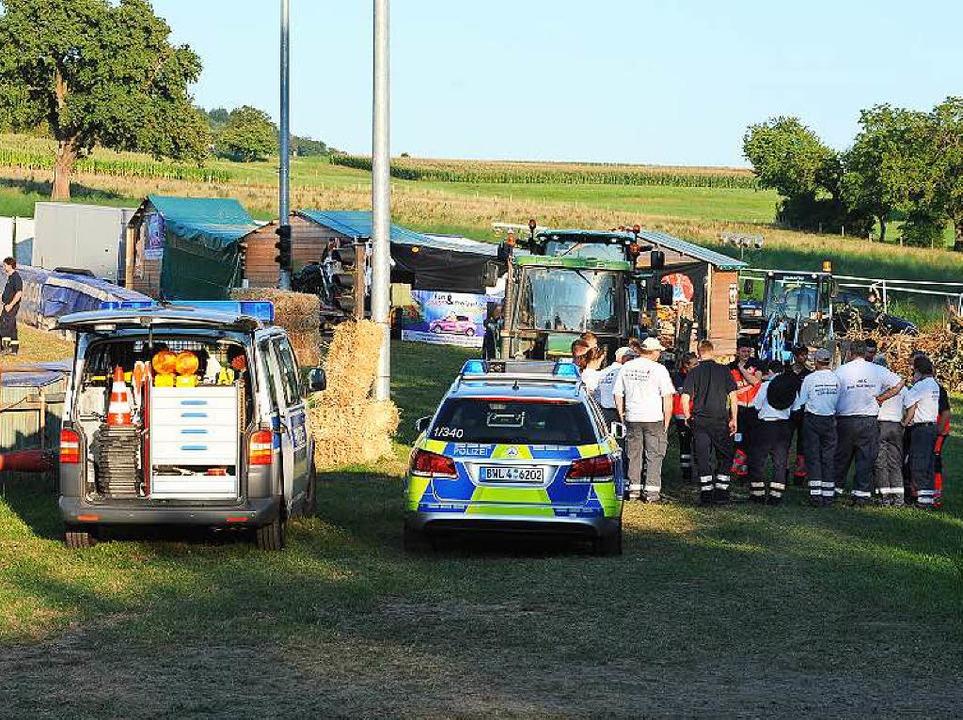 Tragischer Unfall auf der Renntstrecke in Hertingen    Foto: Achim Keller