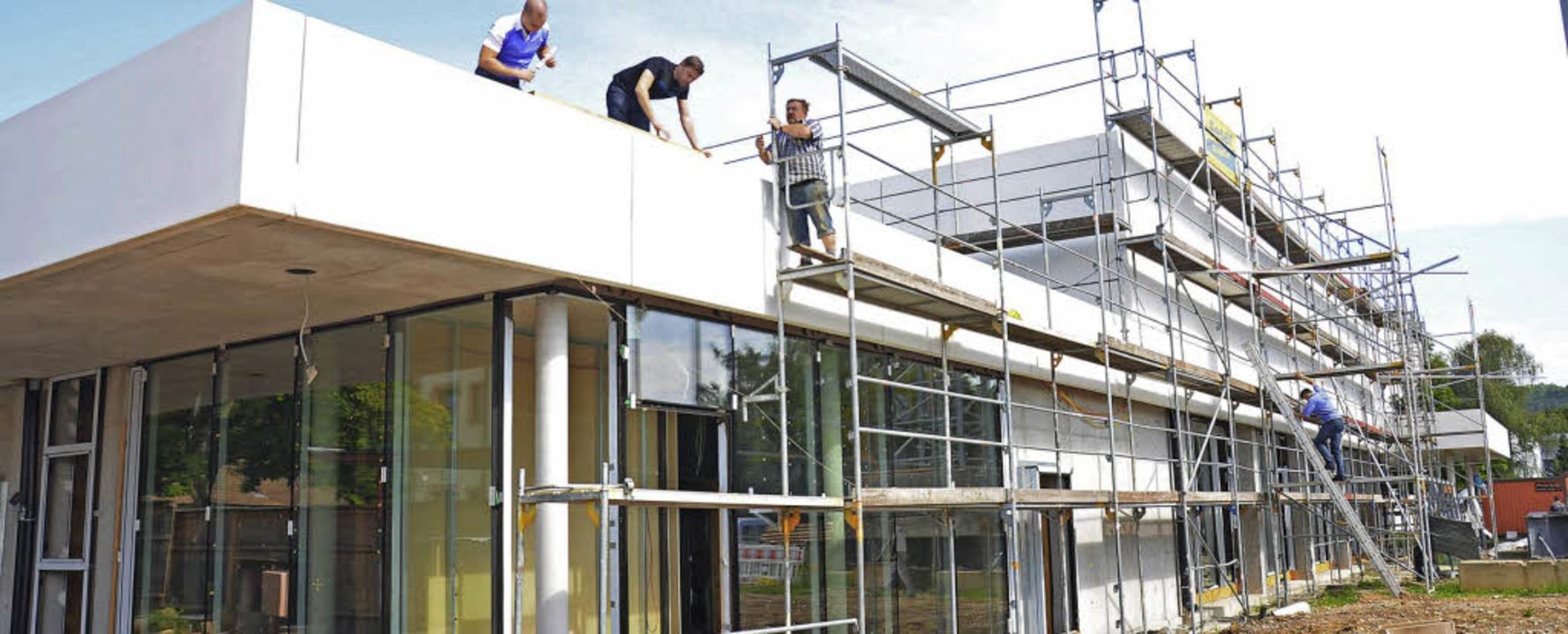 Tumringer Halle: Die Rohbauarbeiten stehen vor dem Abschluss.   | Foto: Nikolaus Trenz