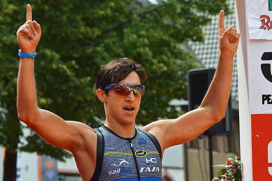 Start- Ziel-Sieg für den Favoriten: Julian Mutterer bestimmte den Wettbewerb über die Mitteldistanz. (Foto: Lucas Roth)