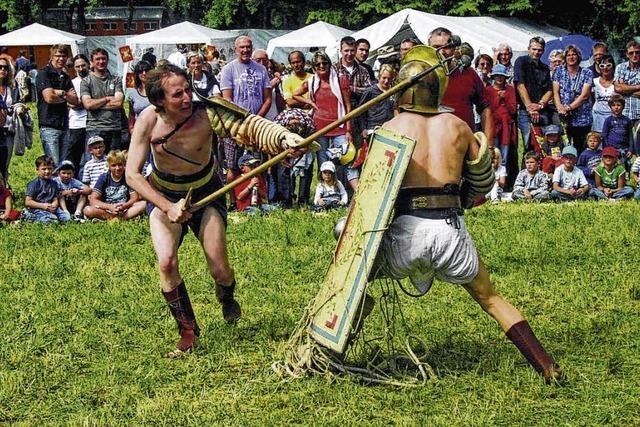 Badruine rüstet sich für Römerfest