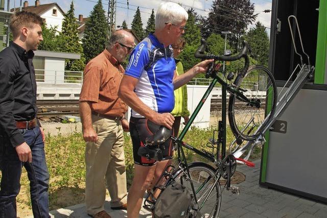 Fahrradboxen für Pendler am Bahnhof sind erst zur Hälfte belegt