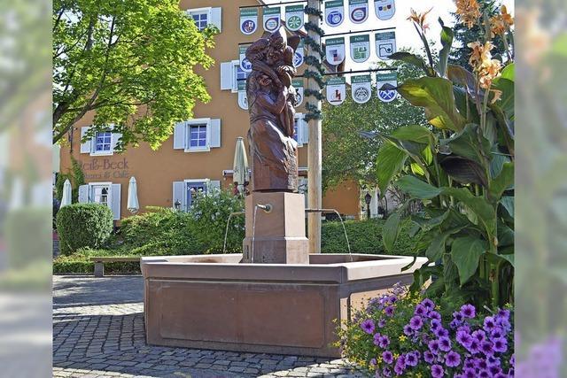 Der sanierte Narrenbrunnen ist jetzt wetterfest