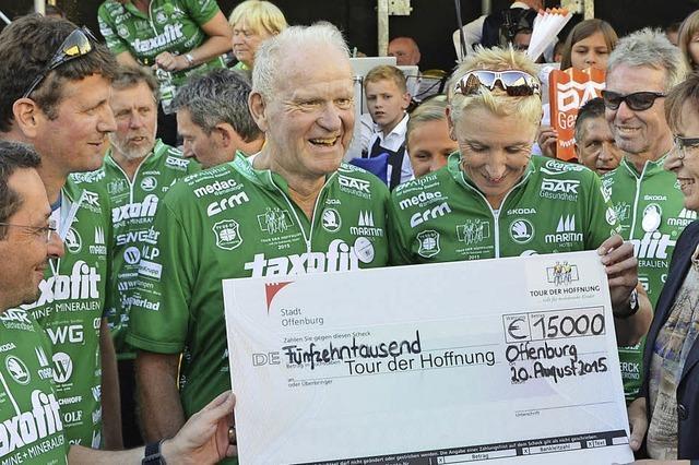 Jo Schraeder sammelt 161 000 Euro für die Tour der Hoffnung