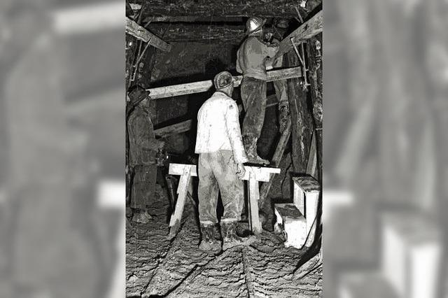 Gefährliche und schweißtreibende Arbeit unter Tage