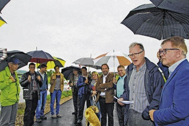Wahlkampf mit Regenschirm