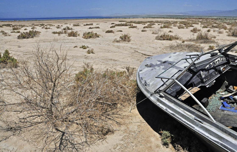Hier gab es  früher Strände, Jachthäfe...paß: die Salton Sea in Südkalifornien.  | Foto: Jens Schmitz