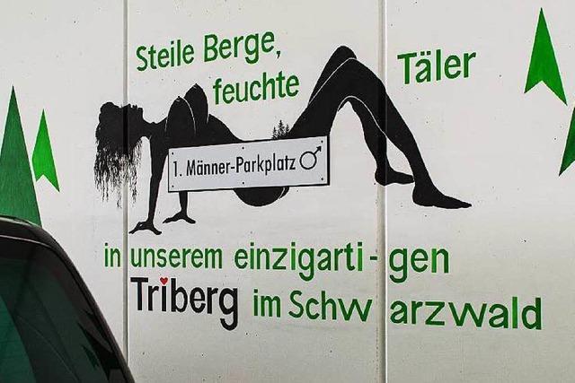 Sexistische Werbung in Triberg: Wie schlüpfrig darf Humor sein?