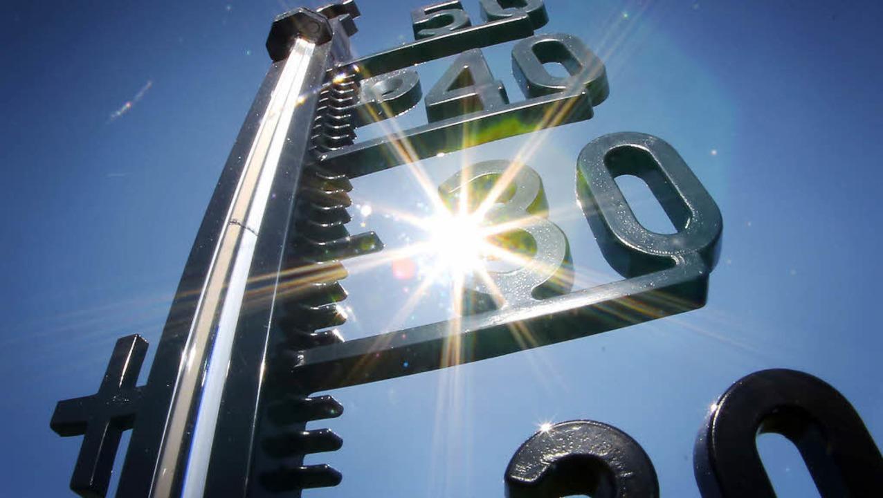 Temperaturen jenseits der 35 Grad: Die...e kommt noch ein einziges Mal zurück.   | Foto: dpa/Privat