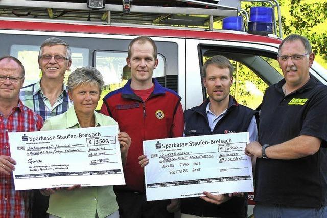 Geldsegen für die Bergwacht Münstertal