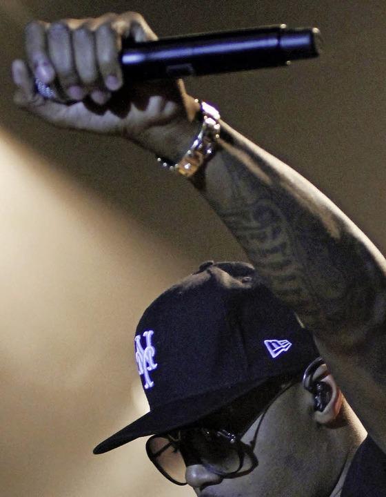 Rapper auf der Bühne    Foto: Wolfgang Grabherr