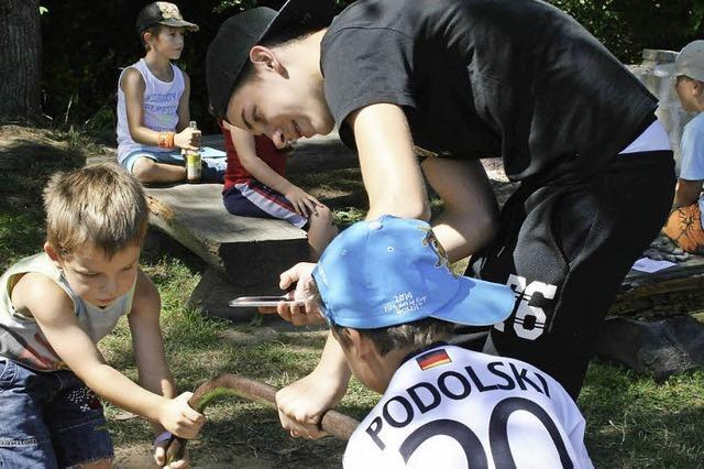 Zum Abschluss eine Dorfolympiade für Kinder