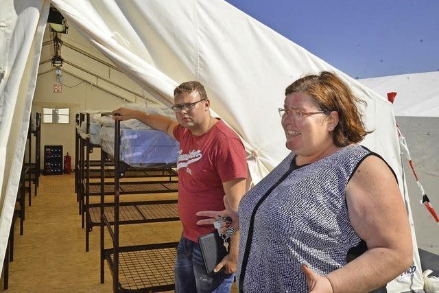 Eine erste Bleibe unterm Zeltdach