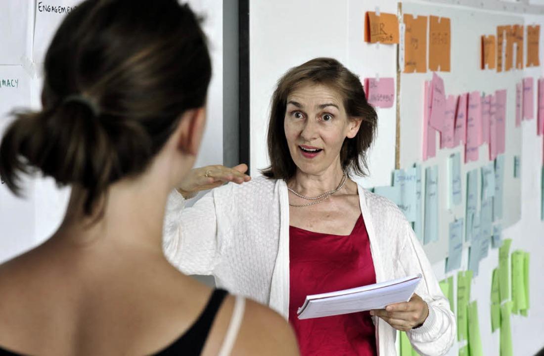 Klangrede: Dorothea Gädeke beim Sprachcoaching   | Foto: Thomas Kunz