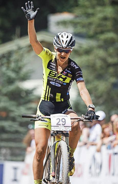 Bike und Fahrerin sind eine Einheit: A...ie dünne Luft in Andorra vorbereitet.     Foto: küstenbrück