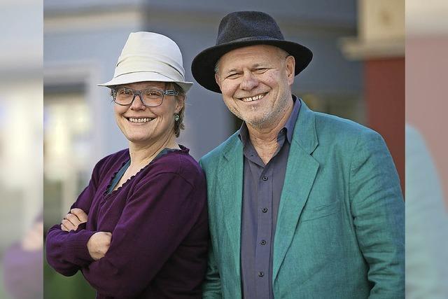 Ulrike Derndinger und Heinz Siebold im Storchenturm-Museum