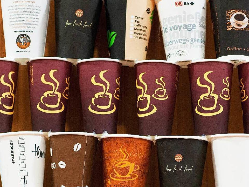 2,8 Milliarden Kaffeebecher werden pro Jahr in Deutschland verbraucht.    Foto: dpa