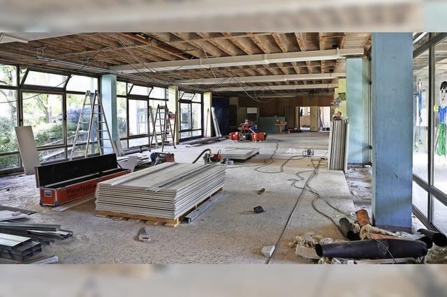 Bauarbeiten in der Grundschule Friesenheim