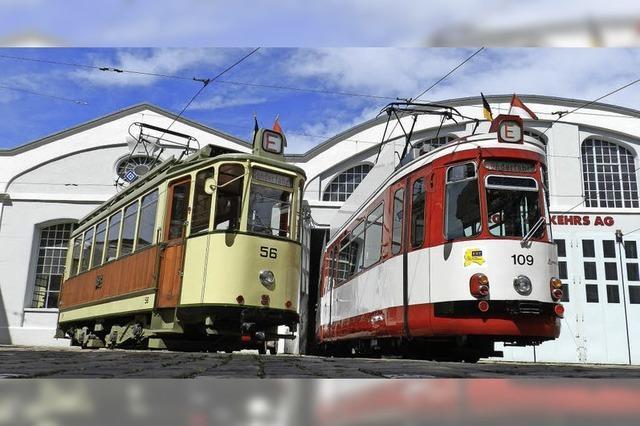 Historische Freiburger Straßenbahnen am Samstag zum letzten Mal in diesem Jahr unterwegs