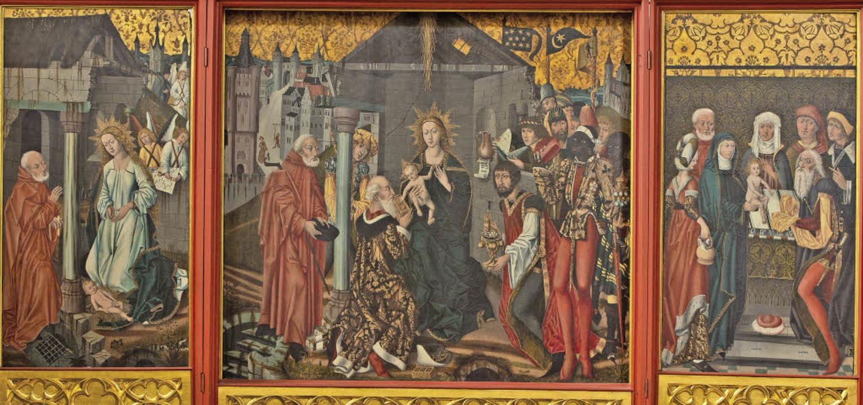 Der spätgotische Herlin-Altar in der Emmendinger Pfarrkirche St. Bonifatius.     Foto: Dieter Wiesse