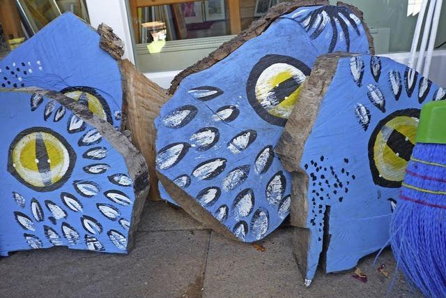 Schönau in Blau: Kunst- und Lichtobjekte