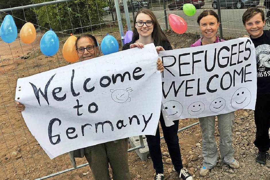 Die ersten Flüchtlinge sind in der Freiburger BEA willkommen geheißen worden. (Foto: Michael Bamberger)
