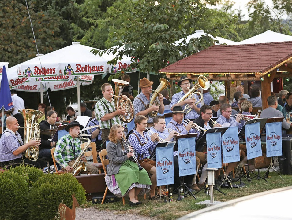 Freitagskonzerte in Birkendorf: Das Pr...m Bild die Formation Hard Polka Wage.     Foto: Dieckmann