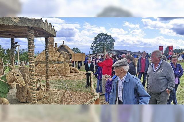 Vereine zeigen wieder kunstvolle Strohskulpturen