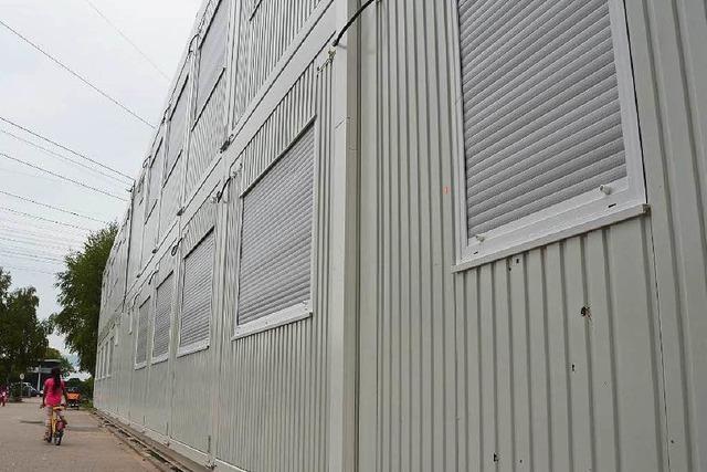 In die Behelfsunterkunft kommen weniger Flüchtlinge als geplant