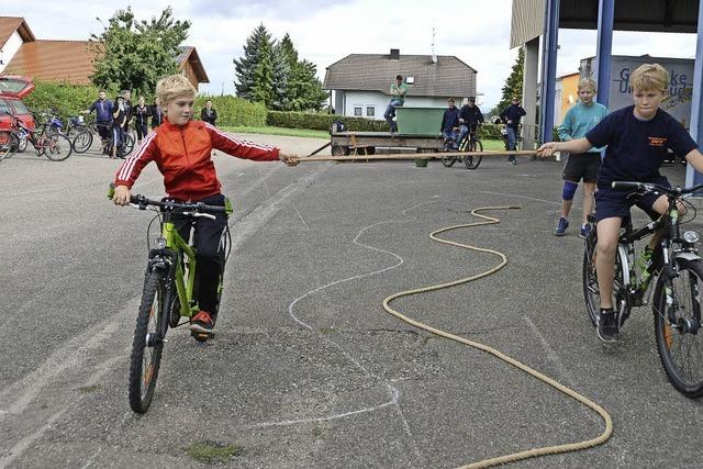 Spiel und Spaß mit dem Rad