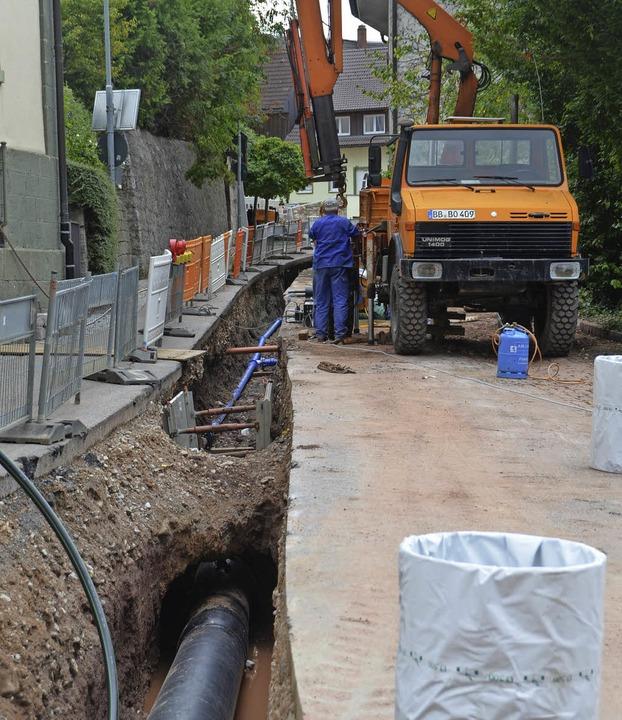 In der Schlossstraße werden derzeit di...en diese Arbeiten abgeschlossen sein.   | Foto: Kühnemund
