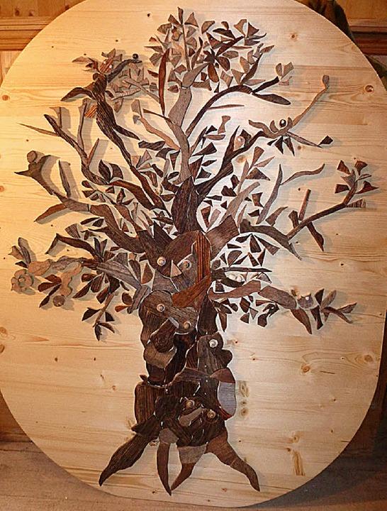 Holzmosaik von Christa Wagner  | Foto: Karla Scherer
