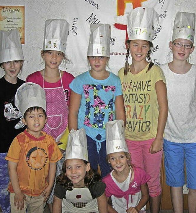 Einen Bibelkochkurs besuchten diese Kinder aus Umkirch.     Foto: Privat