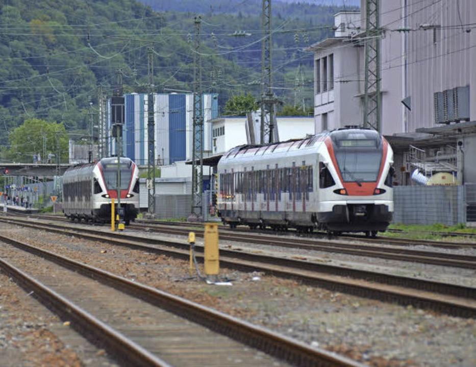 90 bis 100 Züge verkehren  jeden Tag im Wiesental.  | Foto: Nikolaus Trenz