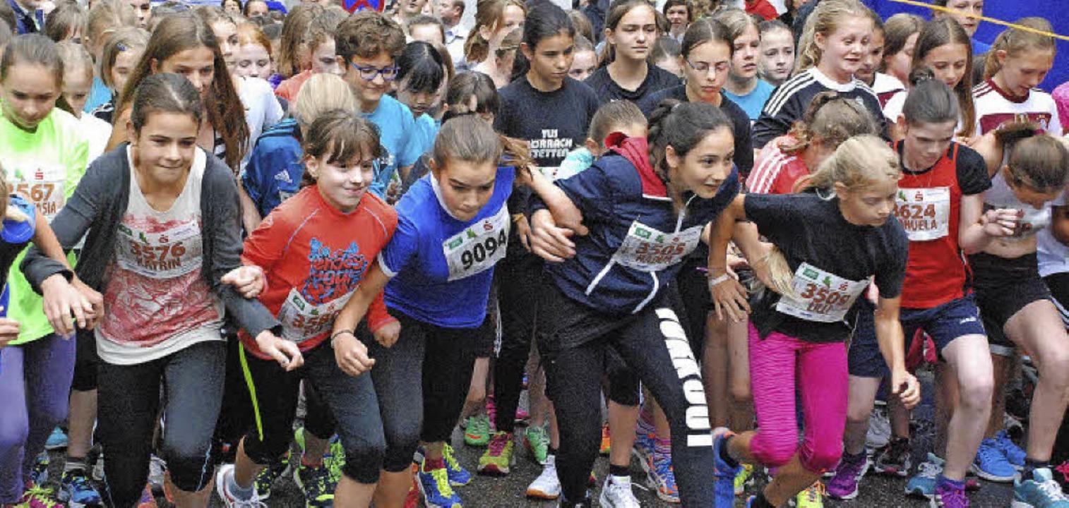 Mit rund 3000 Anmeldungen spricht der ... die Sportstadt Lörrach  in Bewegung.     Foto: Maja Tolsdorf