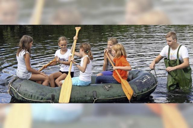 Bootstour auf der Wiese