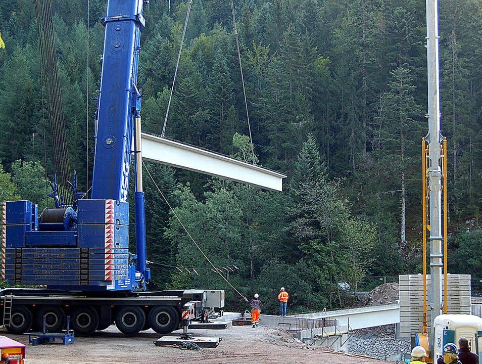 Ein 500 Tonnen Kran – der zweitg...eit der beteiligten Experten gefragt.   | Foto: Claudia Renk