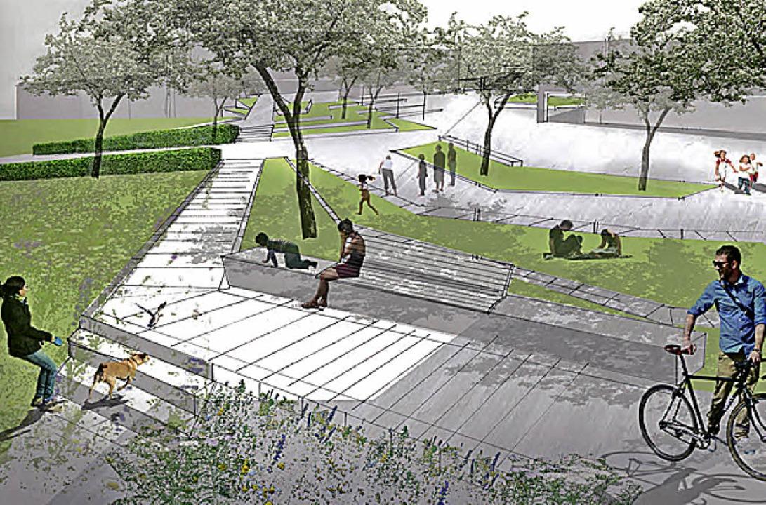 Neu modelliert werden die Flächen auf dem Rappenstein.   | Foto: Skizze: BHM