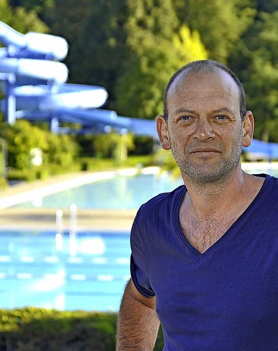 Michael Lorenz an seinem schönen Arbeitsplatz   | Foto: Michael Bamberger