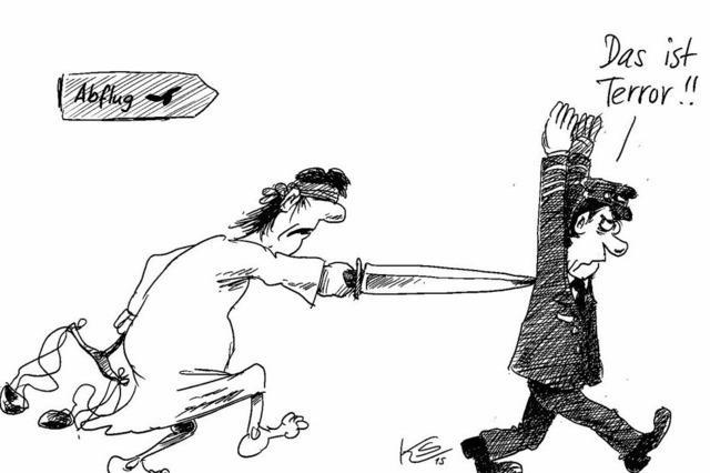 Justitia verurteilt Pilotenstreik