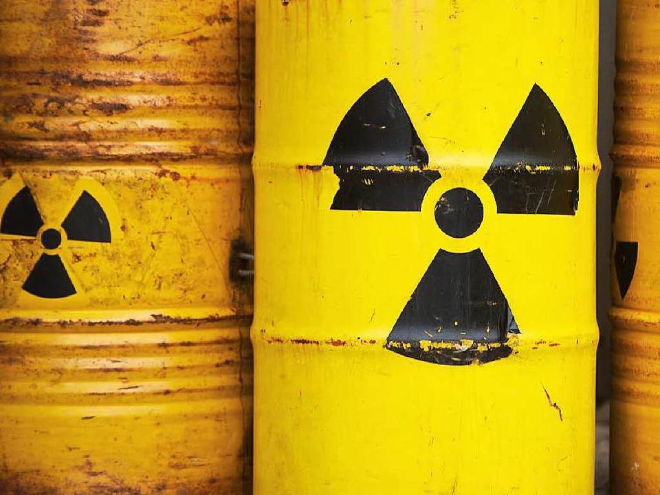 Wohin mit hochradioaktiven Atomabfällen? (Symbolbild)    Foto: dpa