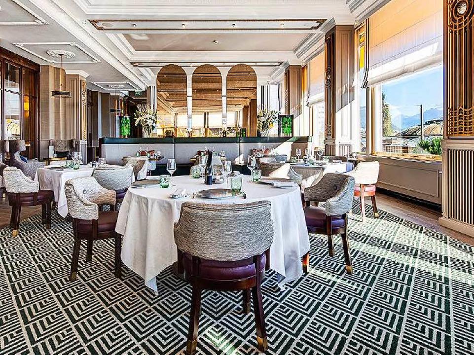 Ebenfalls von Ganter Interior eingerichtet: Restaurant in Montreux     Foto: Ganter