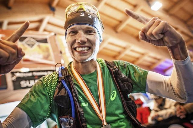 Lukas Naegele aus Freiburg wird Dritter beim Transalpine Run