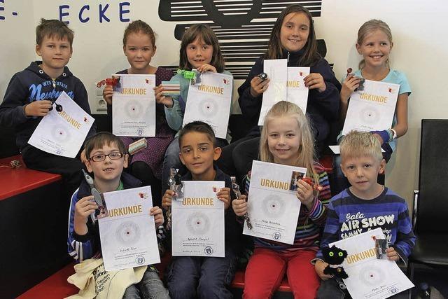 Kinder mit Spaß am Lesen