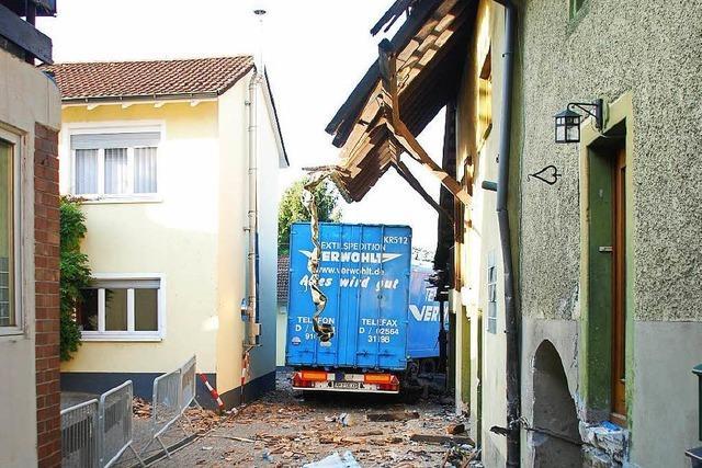Außer Kontrolle durch Wyhlen: Was war mit dem Laster los?