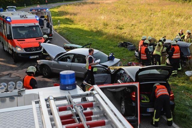 Munzingen: Zwei Schwerverletzte nach Frontalcrash