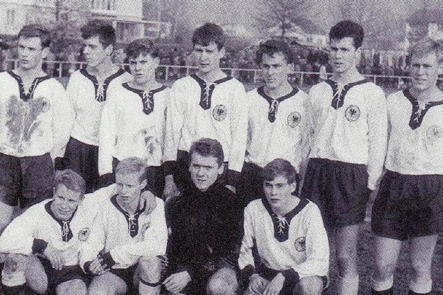 Als der junge Beckenbauer einmal in Lörrach kickte
