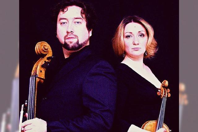 Duo Denis Zdhanov und Uliana Zdhanova in Badenweiler
